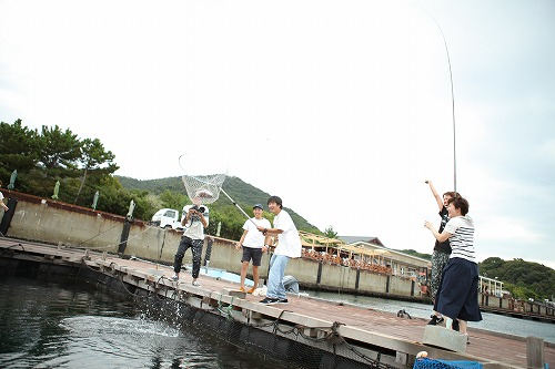 社員旅行 釣り堀