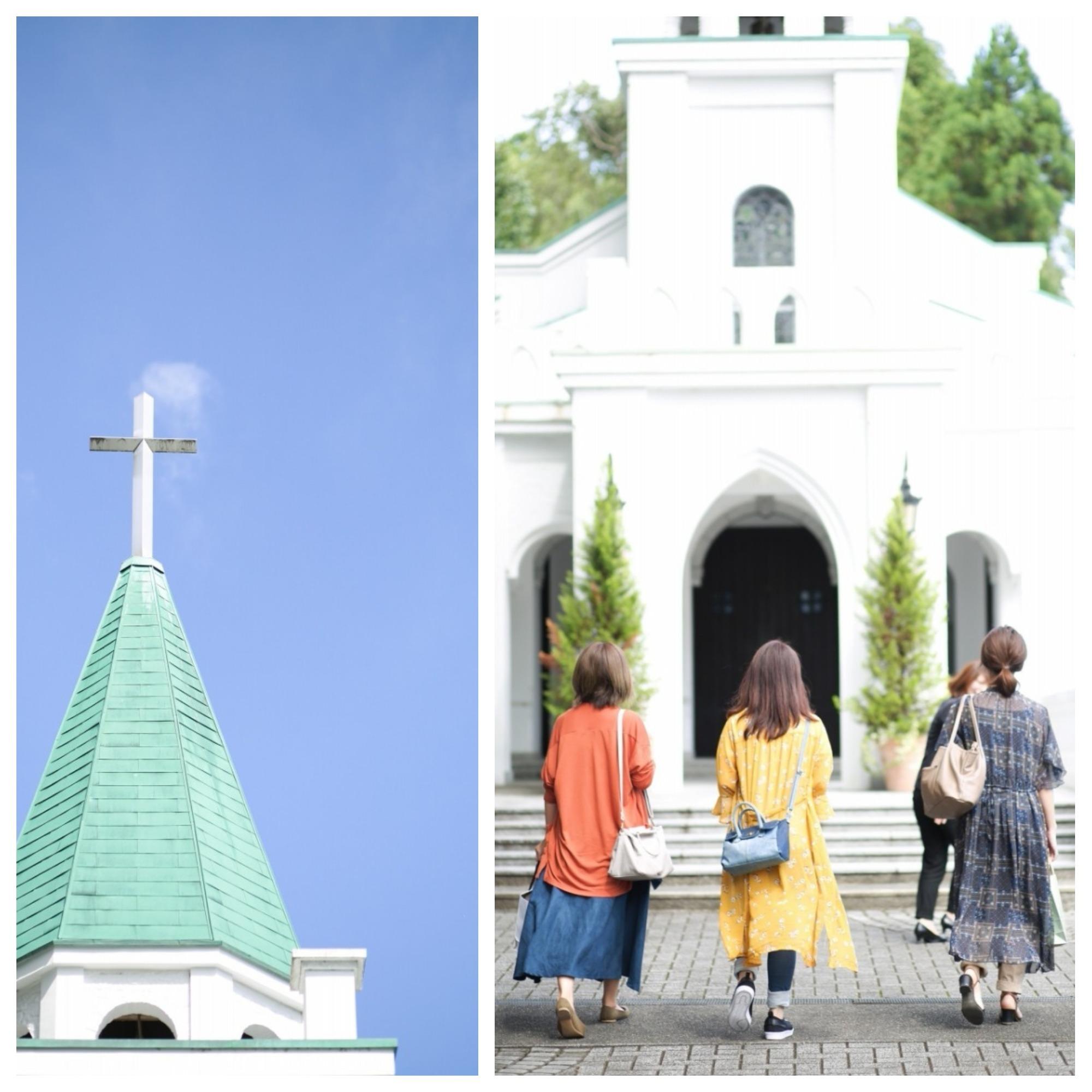 教会に向かう花嫁